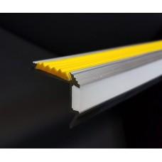Алюминиевый профиль для ступеней с резиновой вставкой и подсветкой SS-2 LED
