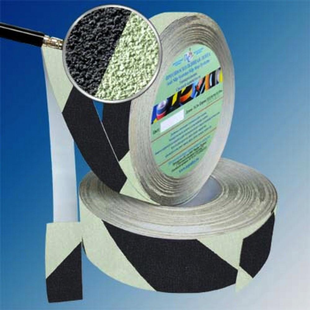 Сигнальная противоскользящая фотолюминесцентная абразивная лента Anti Slip Tape Warning Foto Black
