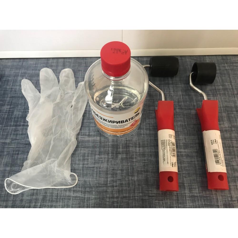 Прижимной пластиковый валик (комплект с обезжиривателем 0.5л и перчаткой)