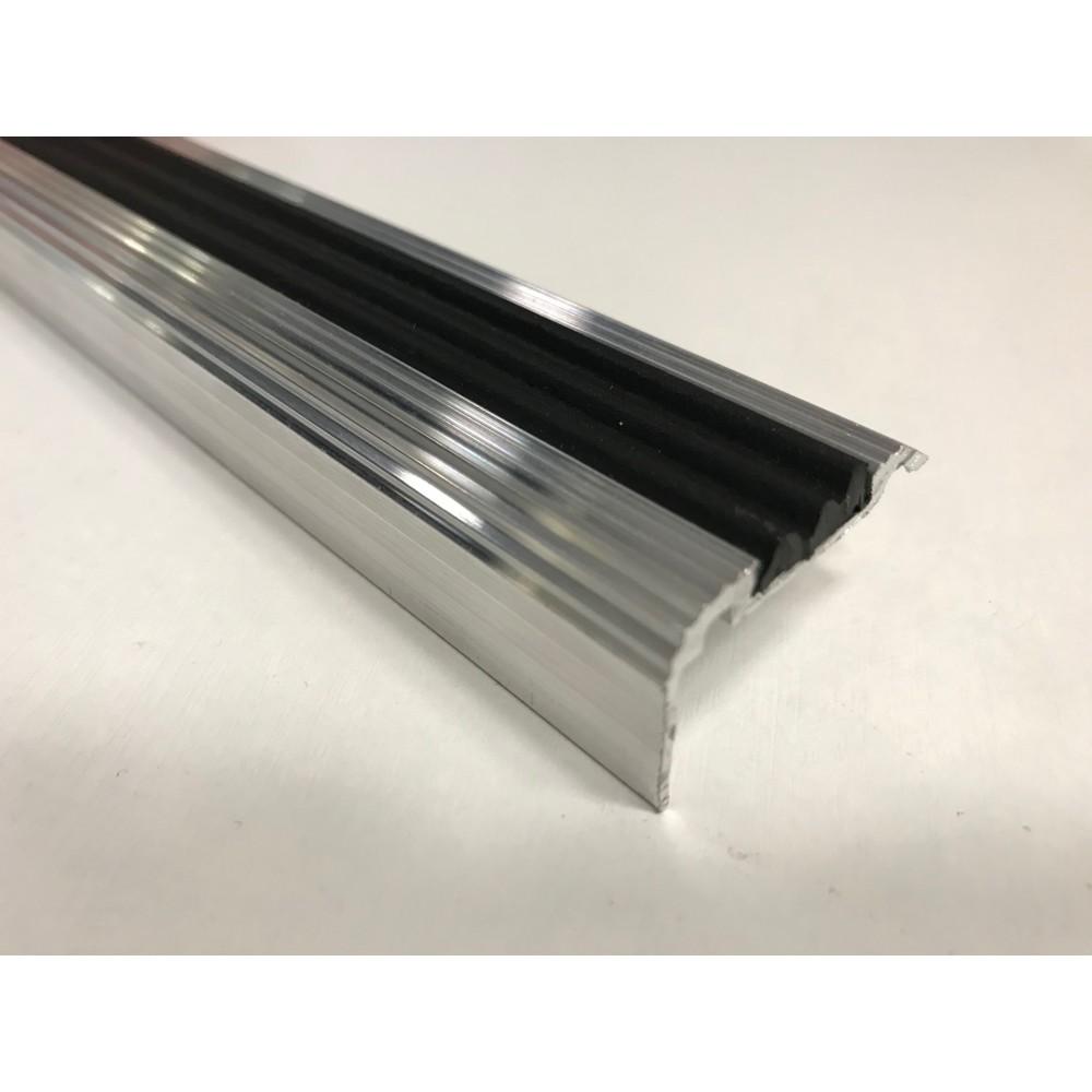Алюминиевый угловой порог ЭКО-35х21 (с резиновой вставкой)