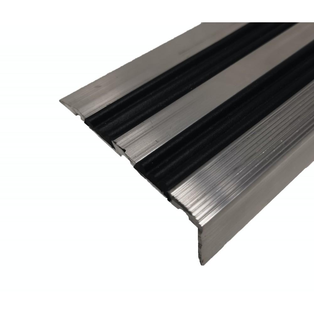 Алюминиевый угловой порог ЭКО-68х30 (с резиновой вставкой)