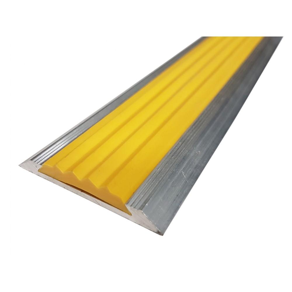 Лента тактильная в алюминиевом корпусе с резиновой вставкой 46 мм/5 мм