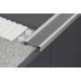 Алюминиевый угол - порог под кафель 34х10