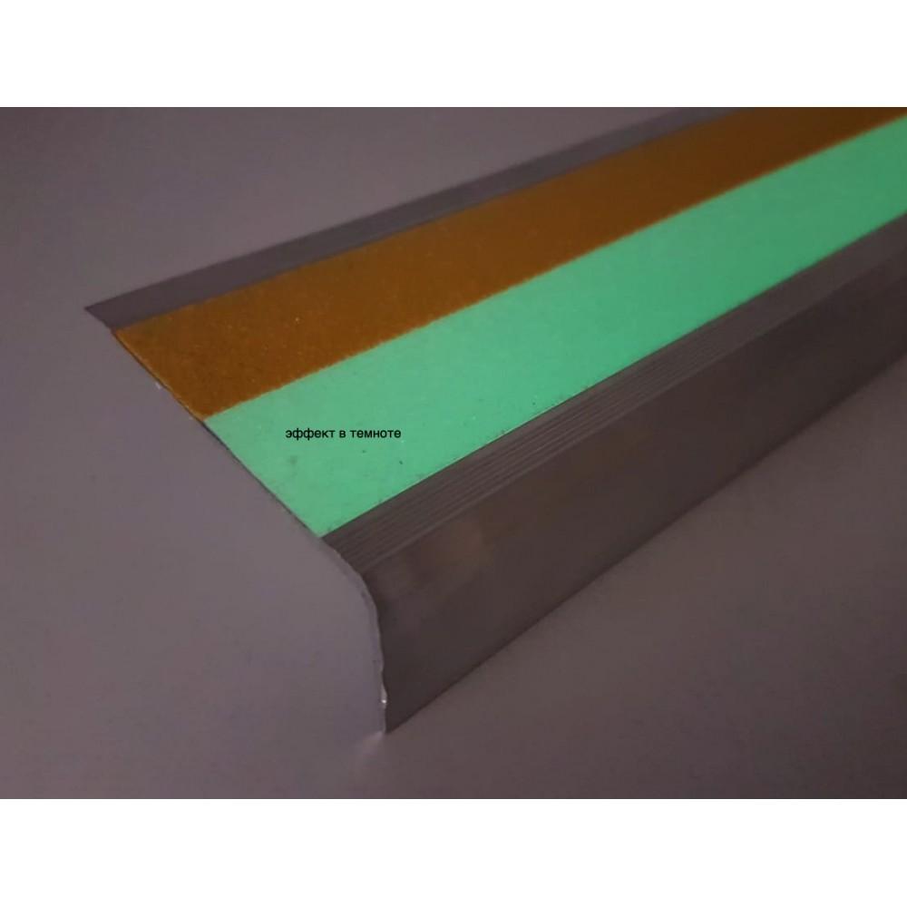 Алюминиевый угол 71х25 мм под ленту 50 мм