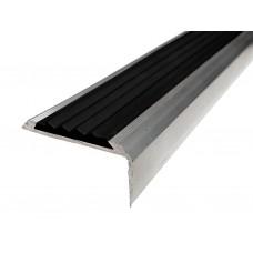 Алюминиевый порог ПРЕМИУМ с резиновой вставкой  42 мм/22 мм