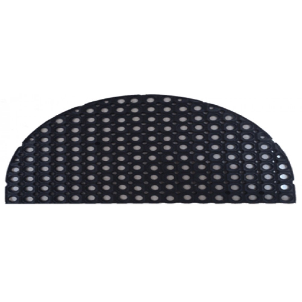 Резиновый коврик ячеистый полукруглый 45х75 см