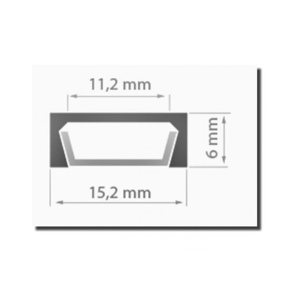 Накладной алюминиевый профиль для светодиодной ленты SS-443 с экраном
