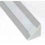 Накладной угловой алюминиевый профиль для светодиодной ленты SS-445 с экраном