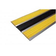 Алюминиевая антискользящая полоса для ступеней с тремя вставками 103 мм/5,5 мм