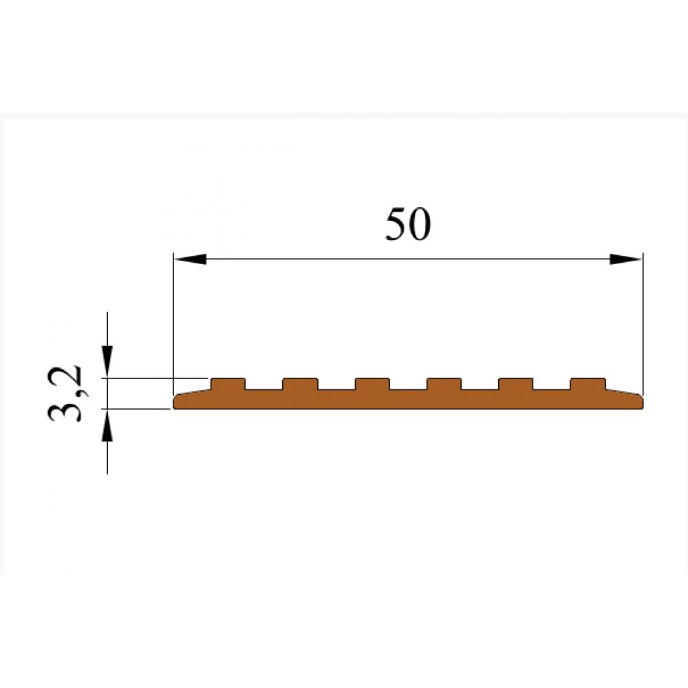 Самоклеящаяса резиновая тактильная противоскользящая полоса 50мм