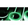 Самоклеящаяся противоскользящая лента Anti Slip Tape крупной зернистости (60 grit). Цвет: черная с фотолюминесцентной полосой