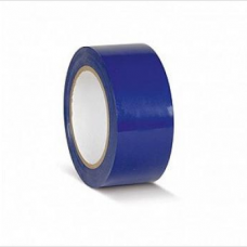 ПВХ лента для разметки и маркировки, синий цвет, 50мм х 22м, 150 мкр