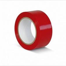 ПВХ лента для разметки и маркировки, красный цвет, 50мм х 22м, 150 мкр