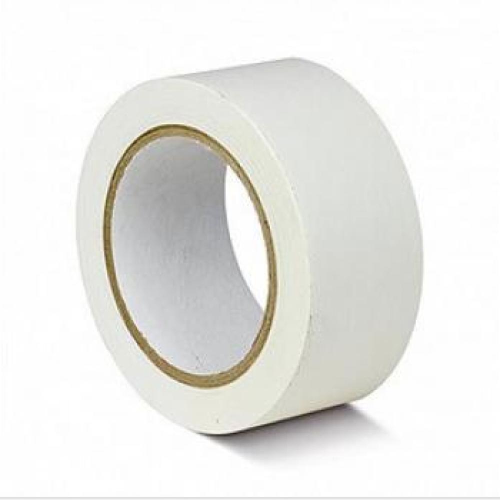 ПВХ лента для разметки и маркировки, белый цвет, 50мм х 22м, 150 мкр
