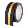 Самоклеящаяся противоскользящая лента Anti Slip Tape крупной зернистости (60 grit). Цвет: черная со светоотражающей полосой