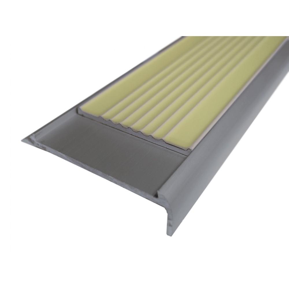 Угловая фотолюминесцентная накладка на ступень или пол ALSN-65L01-G300