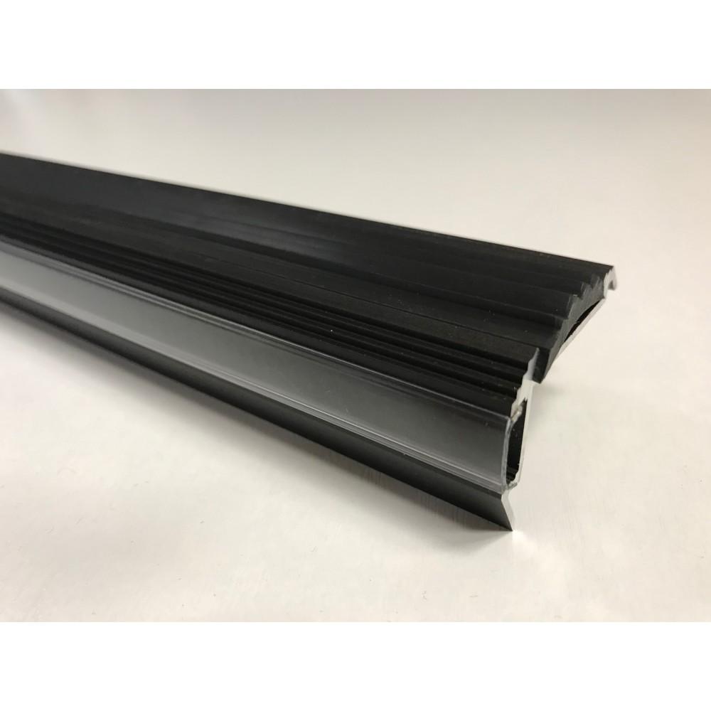 Профиль для светодиодной ленты алюминиевый для ступеней с резиновой вставкой SS-2 LED ANOD