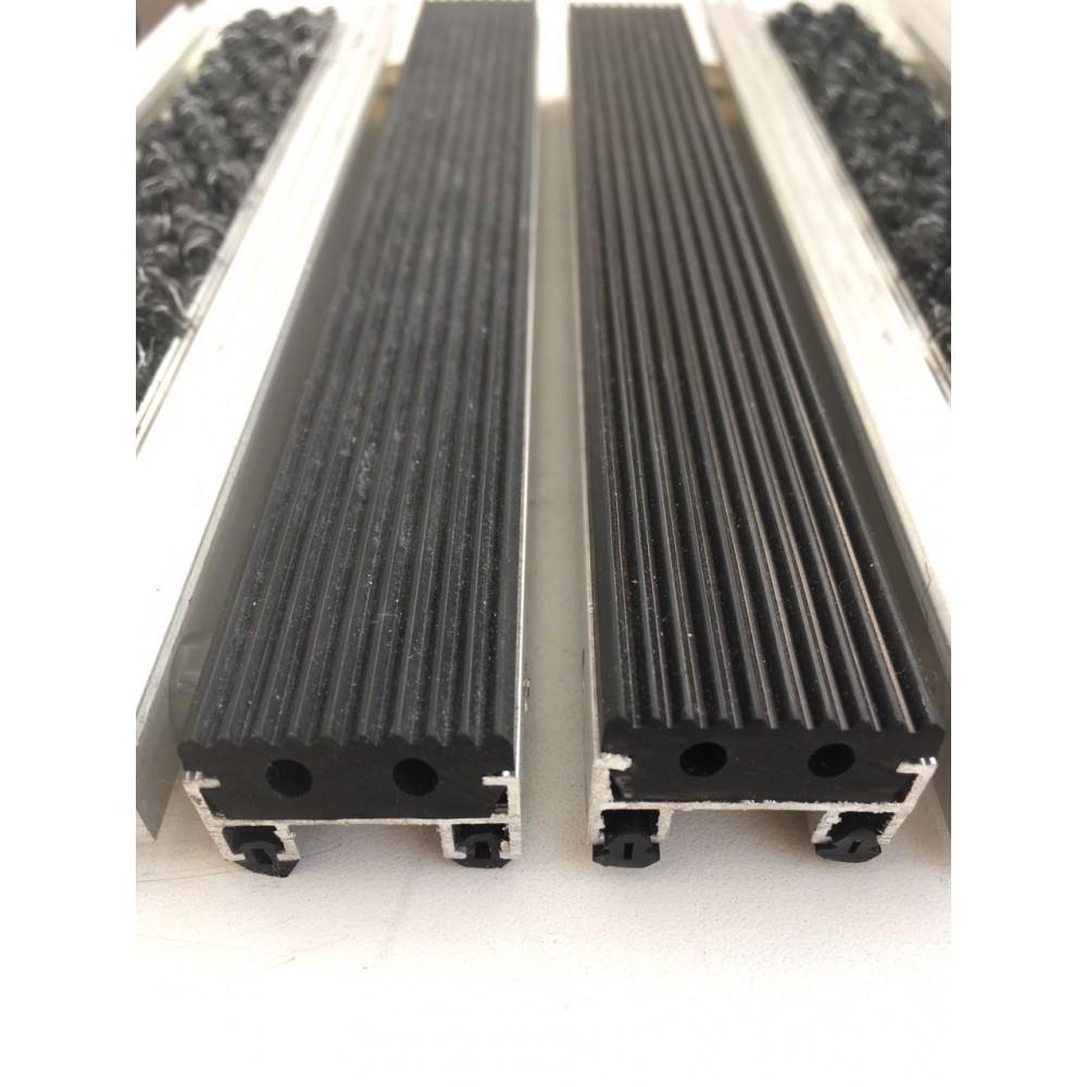 Грязезащитная алюминиевая решетка Safetystep Резина