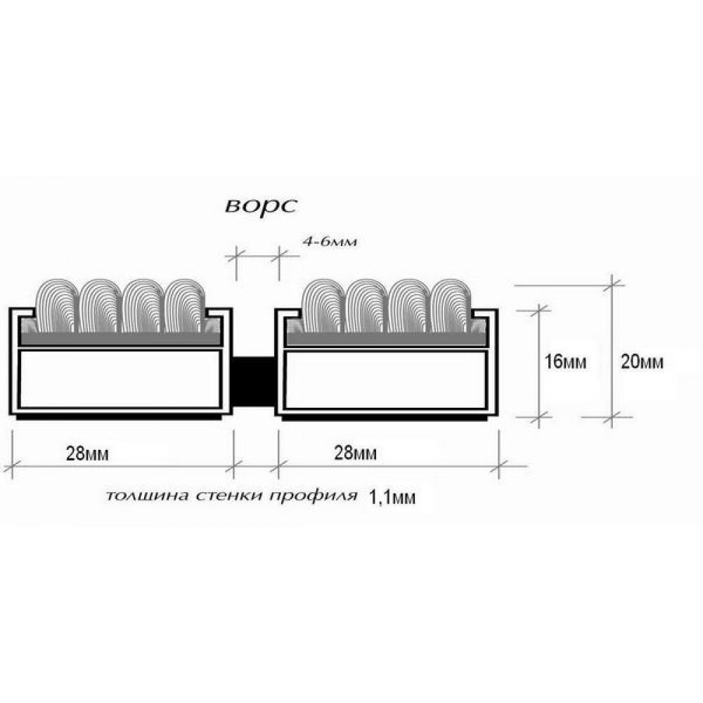 Грязезащитная алюминиевая решетка Safetystep Ворс