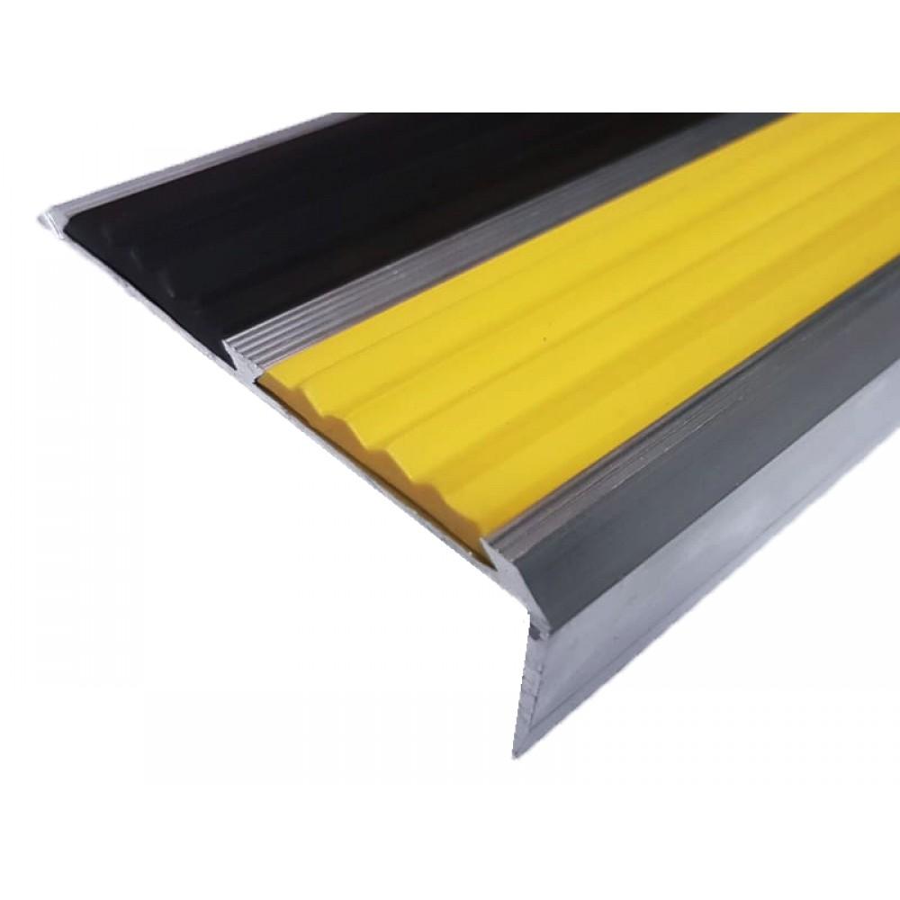 Алюминиевый антискользящий порог противоскольжения 73 мм/5,5 мм/22 мм