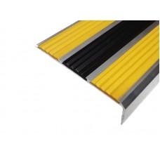 Алюминиевый антискользящий угол с тремя резиновыми вставками 105 мм/5,5 мм/30 мм